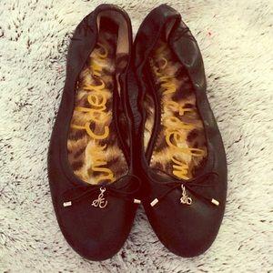 Sam Edelman Felicia Black Bow Ballet Flats Sz 7